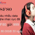 Cách đăng ký gói cước SF80 Mobifone nghe nhạc miễn phí cực đã nhận thêm 3GB data 4G