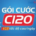 Hướng dẫn đăng ký gói cước C120 của Mobifone hưởng ưu đãi 4GB data 4G 1 ngày Free thoại