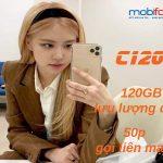 Cách đăng ký gói C120N Mobifone nhận ưu đãi 120GB và miễn phí gọi